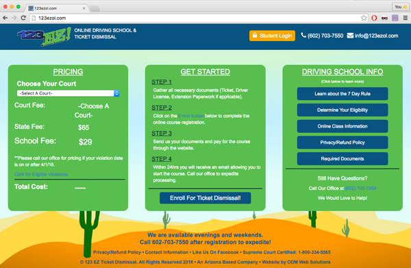 123 EZ Online Driving School